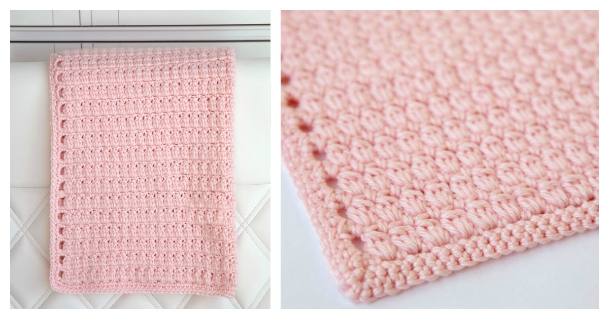 Cozy Clusters Baby Blanket Free Crochet Pattern And Video Tutorial