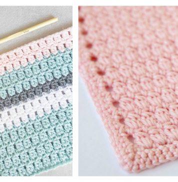 Cozy Clusters Baby Blanket Free Crochet Pattern