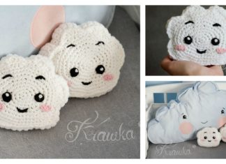 Cute Cloud Mini Pillow Free Crochet Pattern