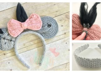 Eeyore Mouse Ears Headband Free Crochet Pattern