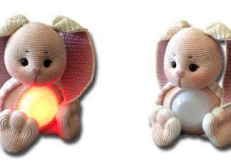 Glow Bunny Lamp Free Crochet Pattern