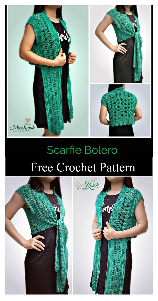 Lace Scarf-Vest Free Crochet Pattern