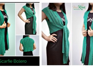 Lace Scarf-Vest Free Crochet Pattern and Diagram
