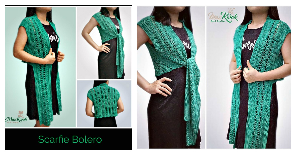 Lace Scarf Vest Free Crochet Pattern And Diagram