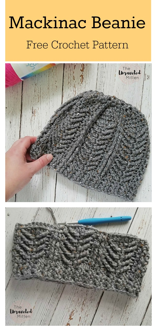 Mackinac Beanie Free Crochet Pattern
