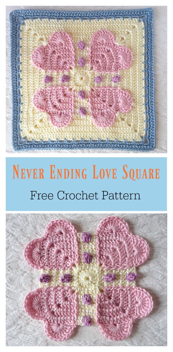 Never Ending Love Square Free Crochet Pattern