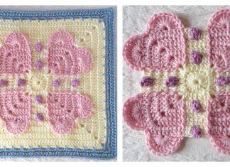Never Ending Love Square Free Crochet Pattern