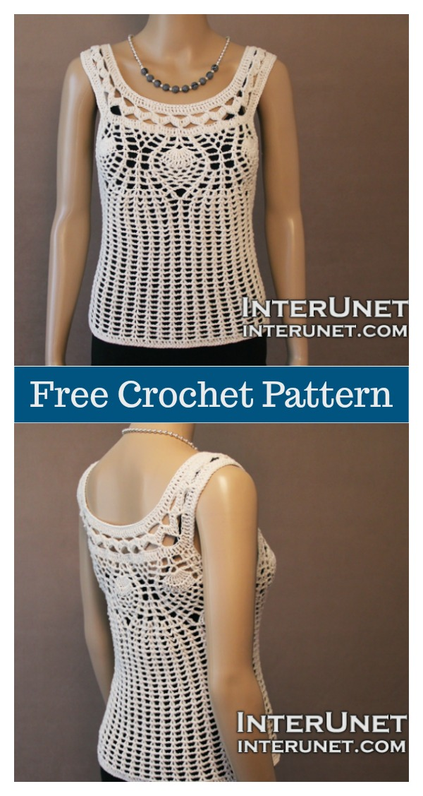 Pineapple Stitch Top Free Crochet Pattern