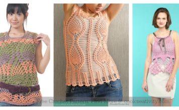 Pineapple Stitch Top Free Crochet Pattern