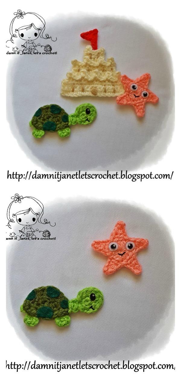 Sea Turtle Appliques Free Crochet Pattern