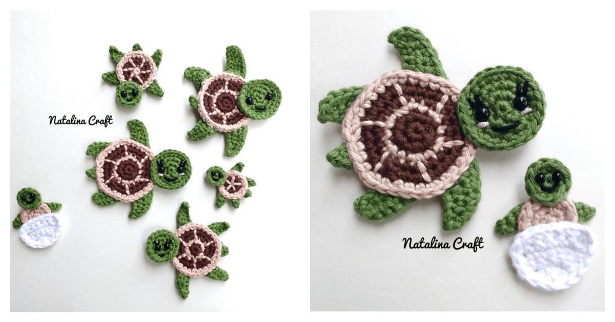 Sea Turtle Appliques Free Crochet Pattern Gorgeous Free Sea Turtle Crochet Pattern