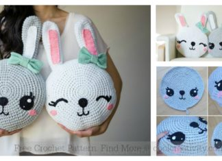 Snuggle Bunny Pillow Free Crochet Pattern