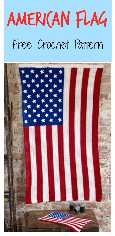 American Flag Free Crochet Pattern