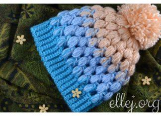 Baby Puff Stitch Hat Free Crochet Pattern