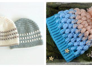 Puff Stitch Hat Free Crochet Pattern