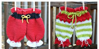 Christmas Dishcloth Britches Free Crochet Pattern