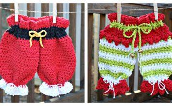 Christmas Dishcloth Britches Free Crochet Pattern