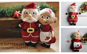 Christmas Ragdoll Santa Couple Free Crochet Pattern