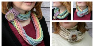 Coiling Colors Cowl Free Crochet Pattern and Video Tutorial