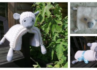 Cuddly Sheep Baby Toy Pram Blanket Free Crochet Pattern