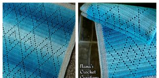 Diamond Blanket Free Crochet Pattern and Video Tutorial