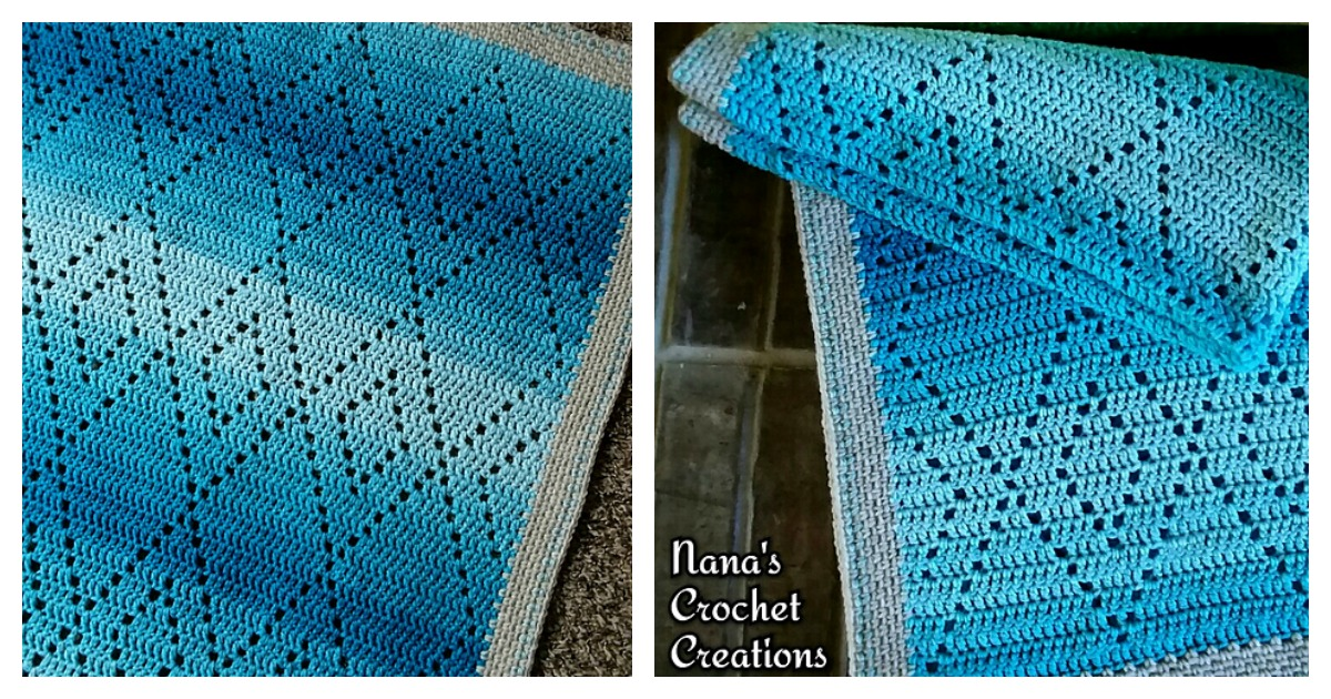 Diamond Blanket Free Crochet Pattern And Video Tutorial