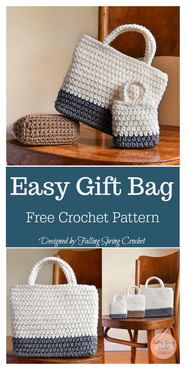 Easy Gift Bag Free Crochet Pattern