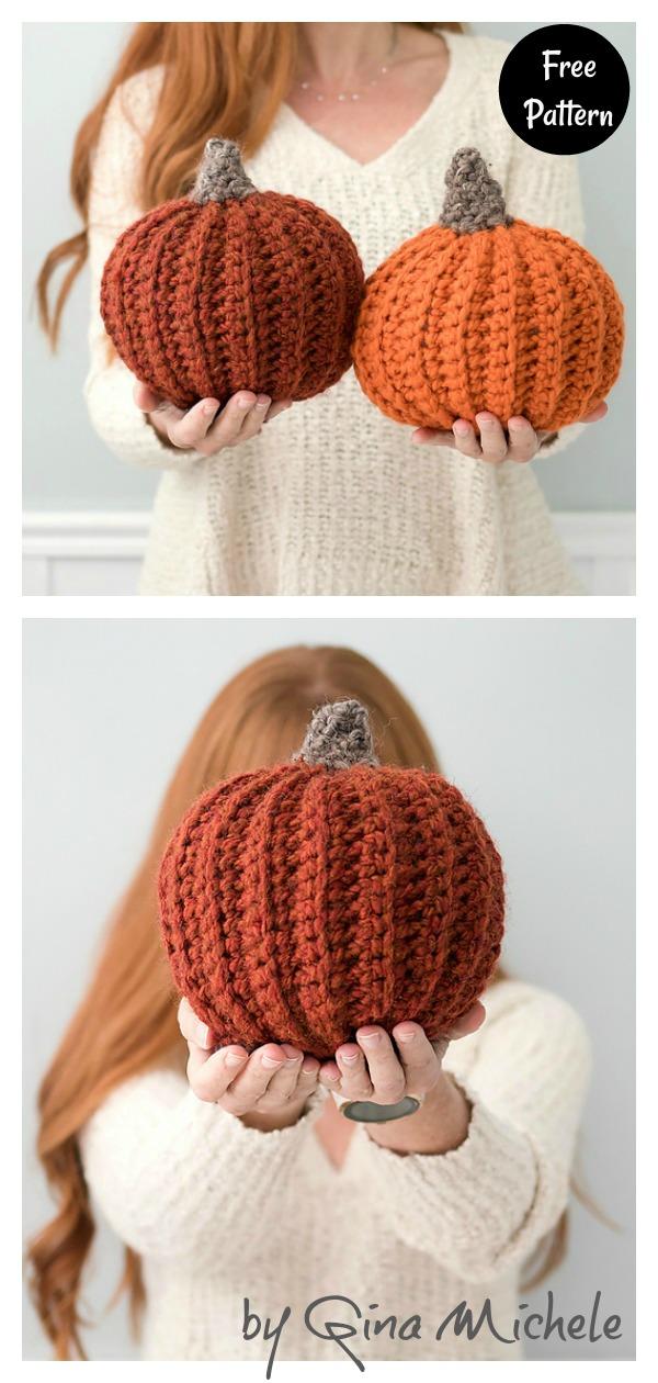 Easy Large Pumpkins Free Crochet Pattern