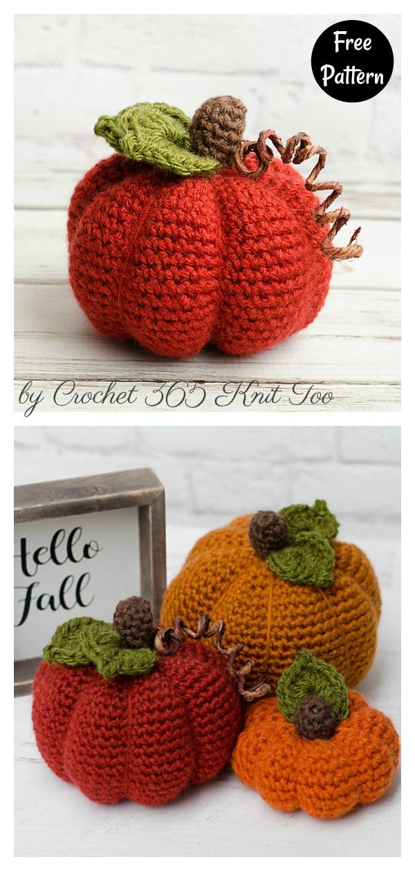 Fall Pumpkins Free Crochet Pattern
