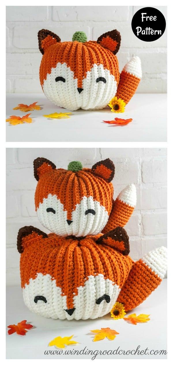Fox Pumpkin Free Crochet Pattern