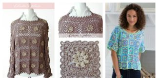 Granny Square Top Free Crochet Pattern