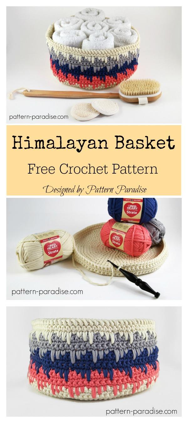 Himalayan Spikes Basket Free Crochet Pattern