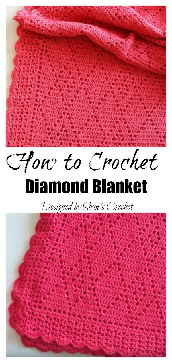 How to Crochet Diamond Blanket Video Tutorial
