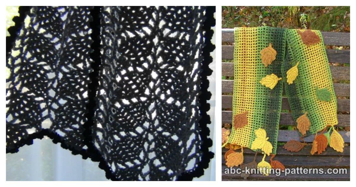 Leaf Scarf Free Crochet Pattern