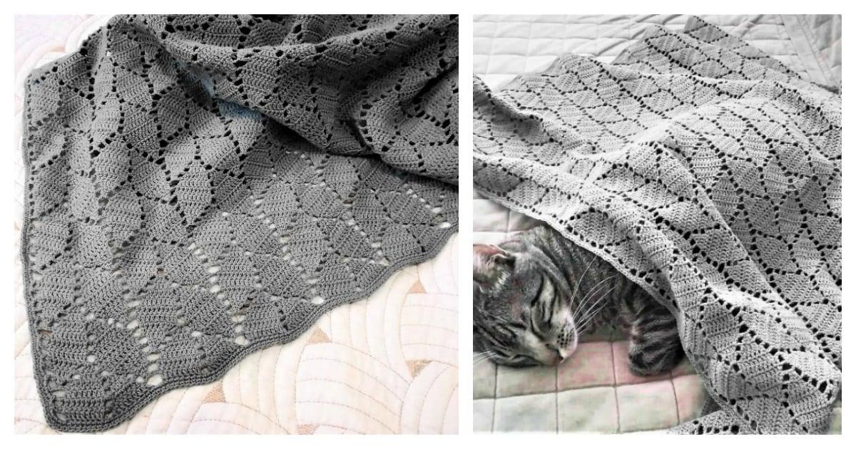 Leaf Stitch Baby Blanket Free Crochet Pattern