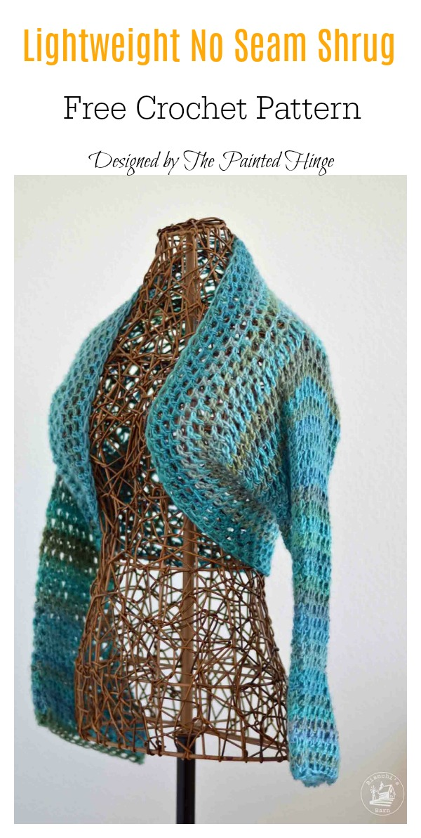 Lightweight No Seam Shrug Free Crochet Pattern