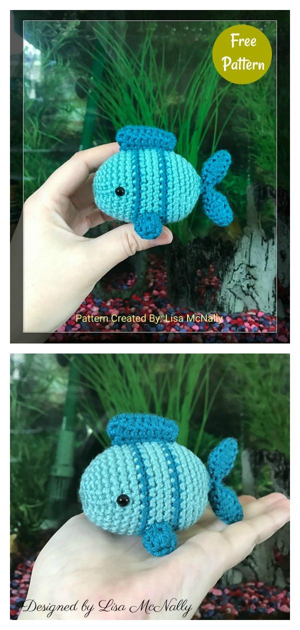 Fish Amigurumi Free Patterns in a Jar   1260x600