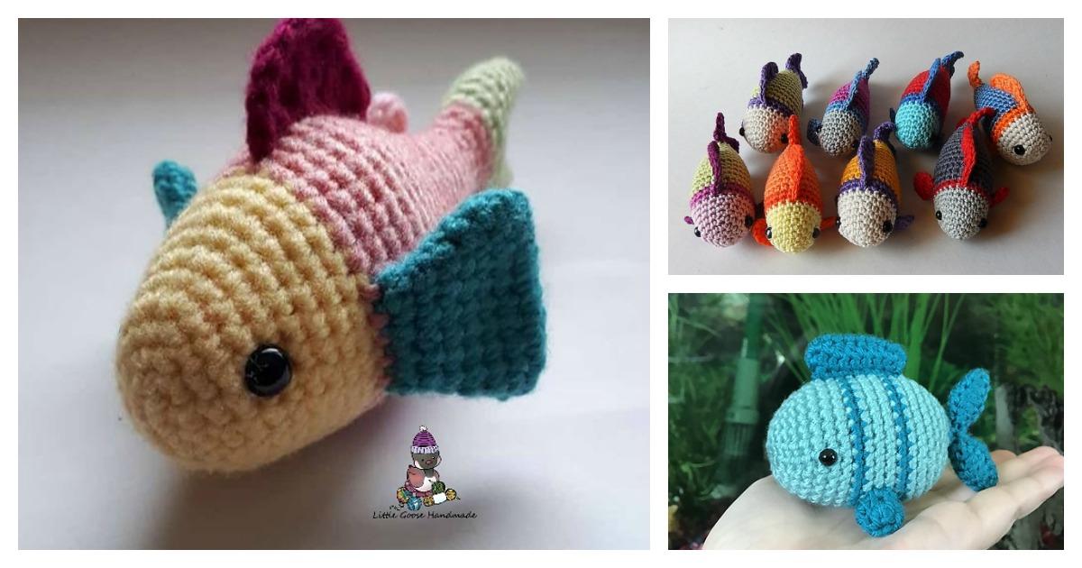 Crochet Cute Amigurumi Puffer Fish with Free Pattern | 630x1200