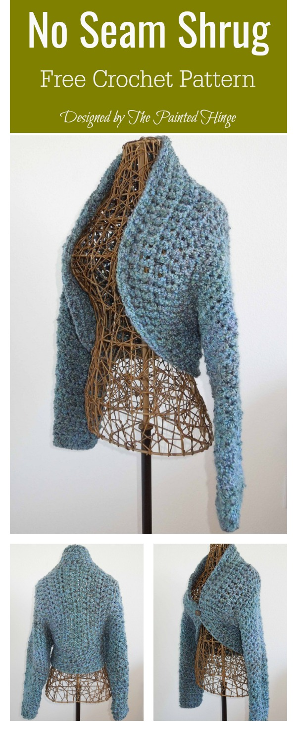 No Seam Shrug Free Crochet Pattern