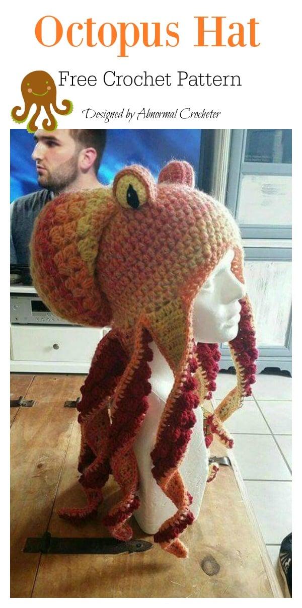 Octopus Hat Free Crochet Pattern
