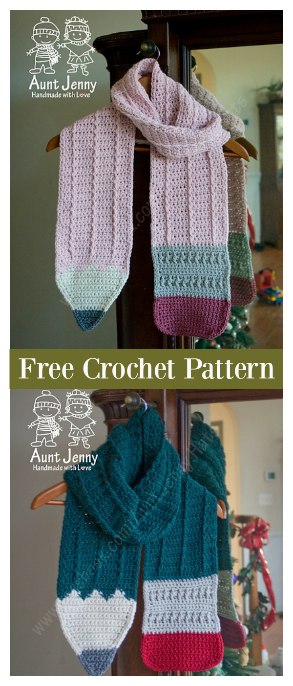 Pencil Scarf Free Crochet Pattern