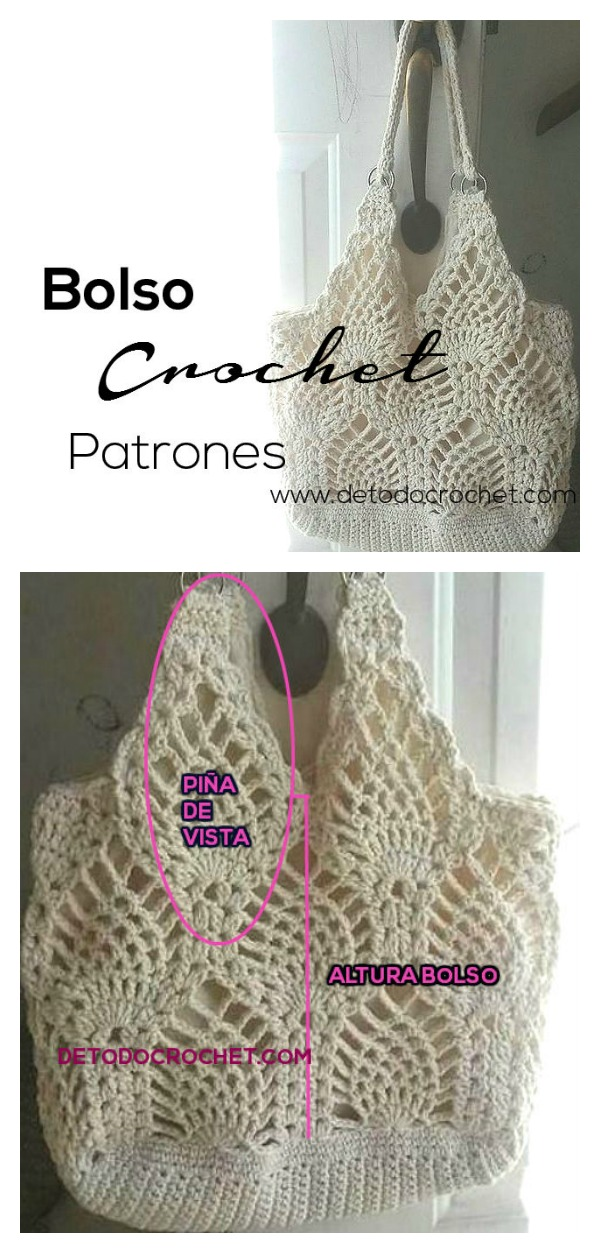 Pineapple Stitch Bag Free Crochet Pattern
