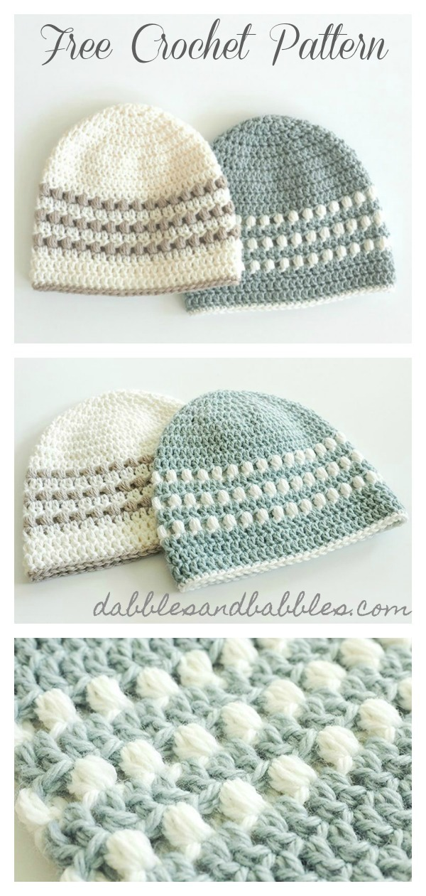 065b0d670 Puff Stitch Hat Free Crochet Pattern