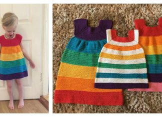 Rainbow Dress Free Crochet Pattern