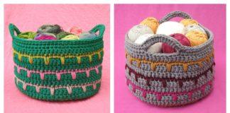 Spikes Basket Free Crochet Pattern