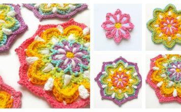 Vintage Rainbow Mandala Free Crochet Pattern