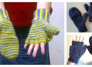 2 in 1 Fingerless Gloves & Mittens Free Crochet Pattern