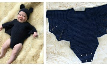 Adorable Baby Bat Set Costume Free Crochet Pattern
