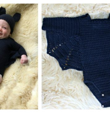 Adorable Baby Bat Set Costume Free Crochet Pattern
