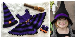 Adorable Witch Halloween Costume Free Crochet Pattern